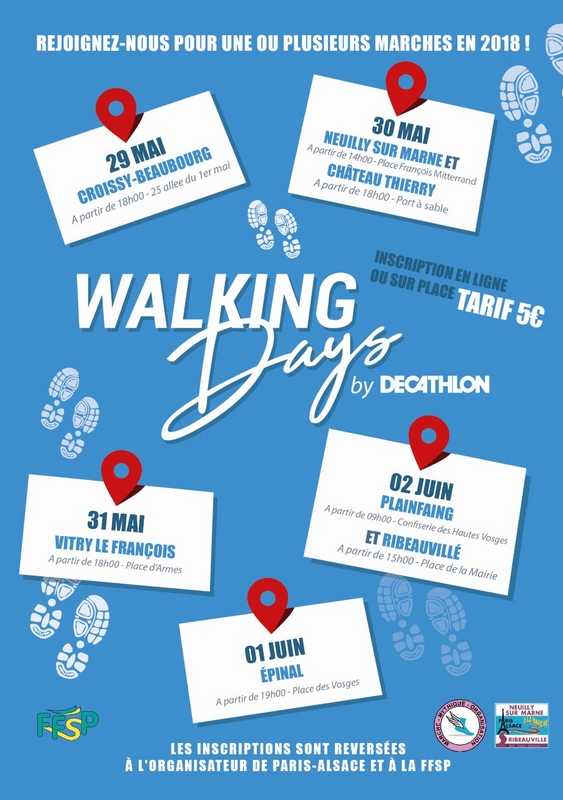 Paris - Ribeauvillé 2018 - 30 mai au 2 juin Affiche-Flyer---Walking-Days-2018