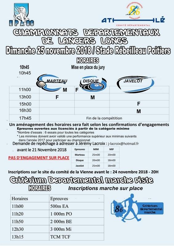 25-11-2018 Poitiers Critérium Départemental 86 marche piste Poitiers-2018-2
